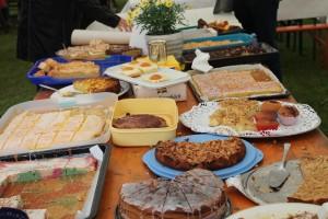 Das riesige Kuchenbuffet